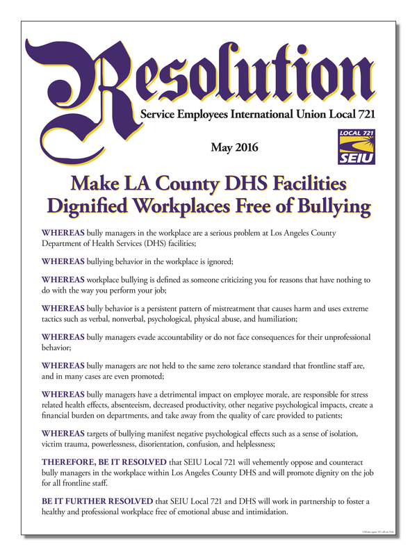 Resolution Making LA County DHS Facilities Dignified Workplaces Free of Bullying 30x40.jpg