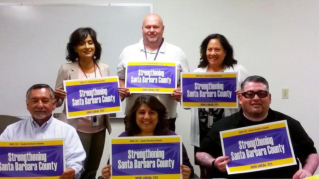 SEIU 721 Santa Barbara County Bargaining Team
