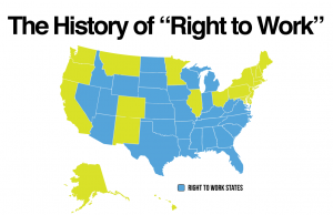 right to work map