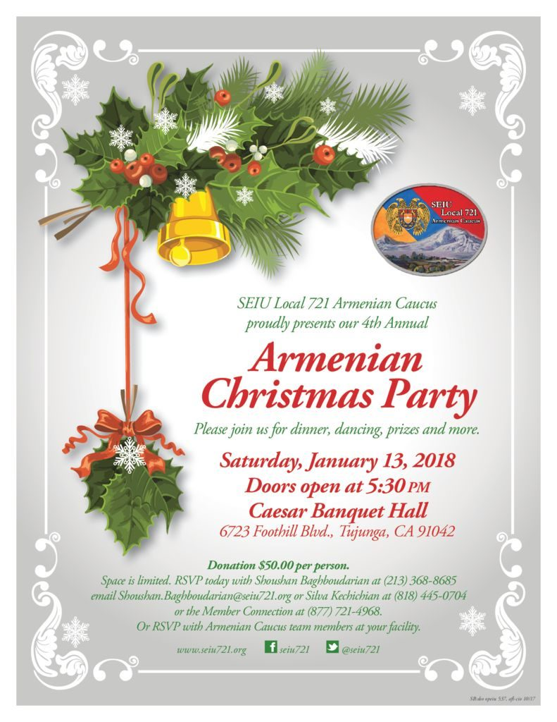 Armenian Christmas.Armenian Christmas Party Seiu Local 721