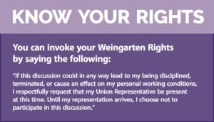 UNION 101: Weingarten Rights - SEIU Local 721