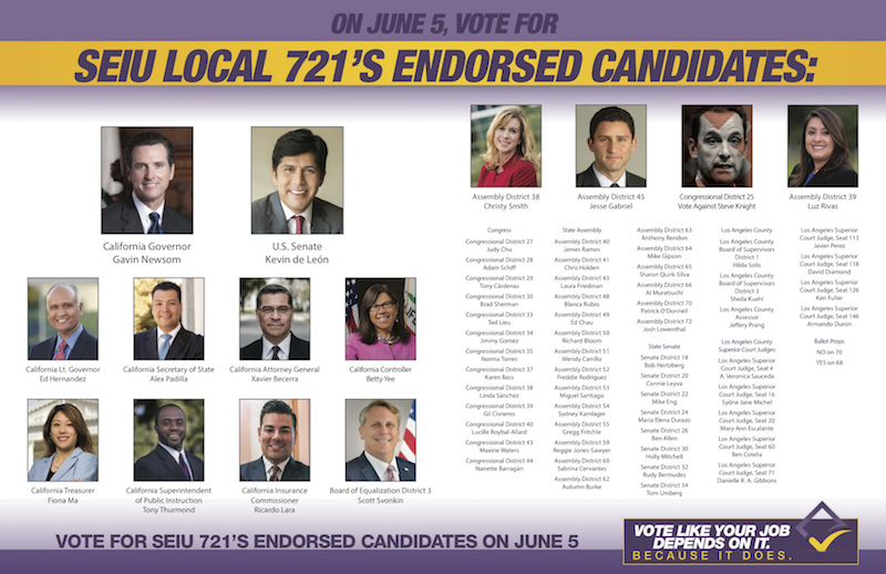 LA 2018 Endorsements