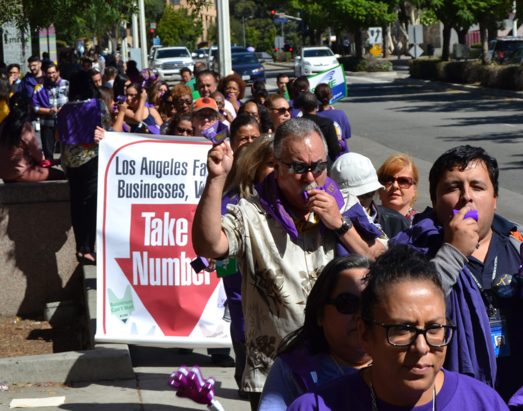 LA Superior Court Workers Rally for Quality Court Services