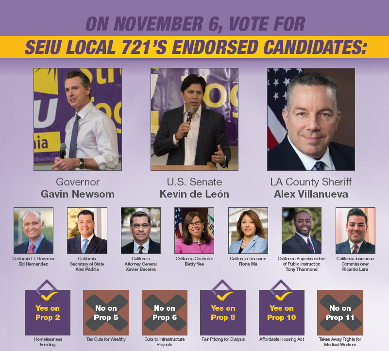 SEIU 721 2018 Election Guide