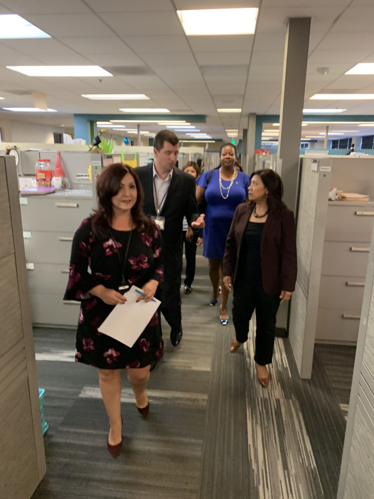 Rep  Norma Torres visits LA County DCFS Regional Office in