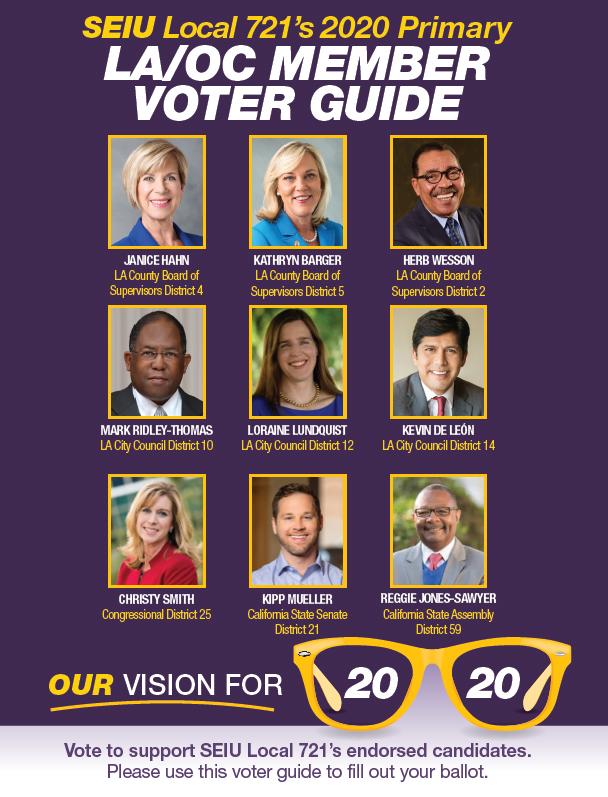 Seiu 721 2020 Primary Voter Guide Seiu Local 721
