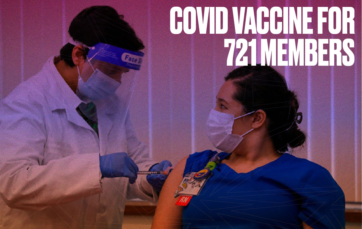 Covid Vaccine For 721 Members